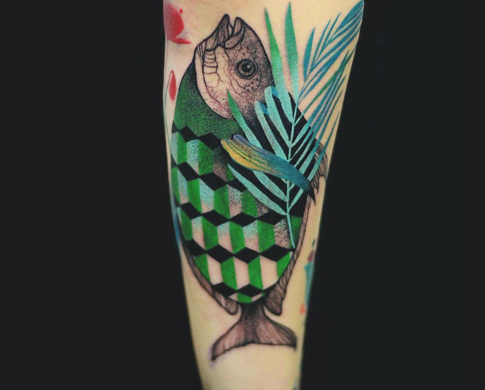 fish, escher style, tattoo