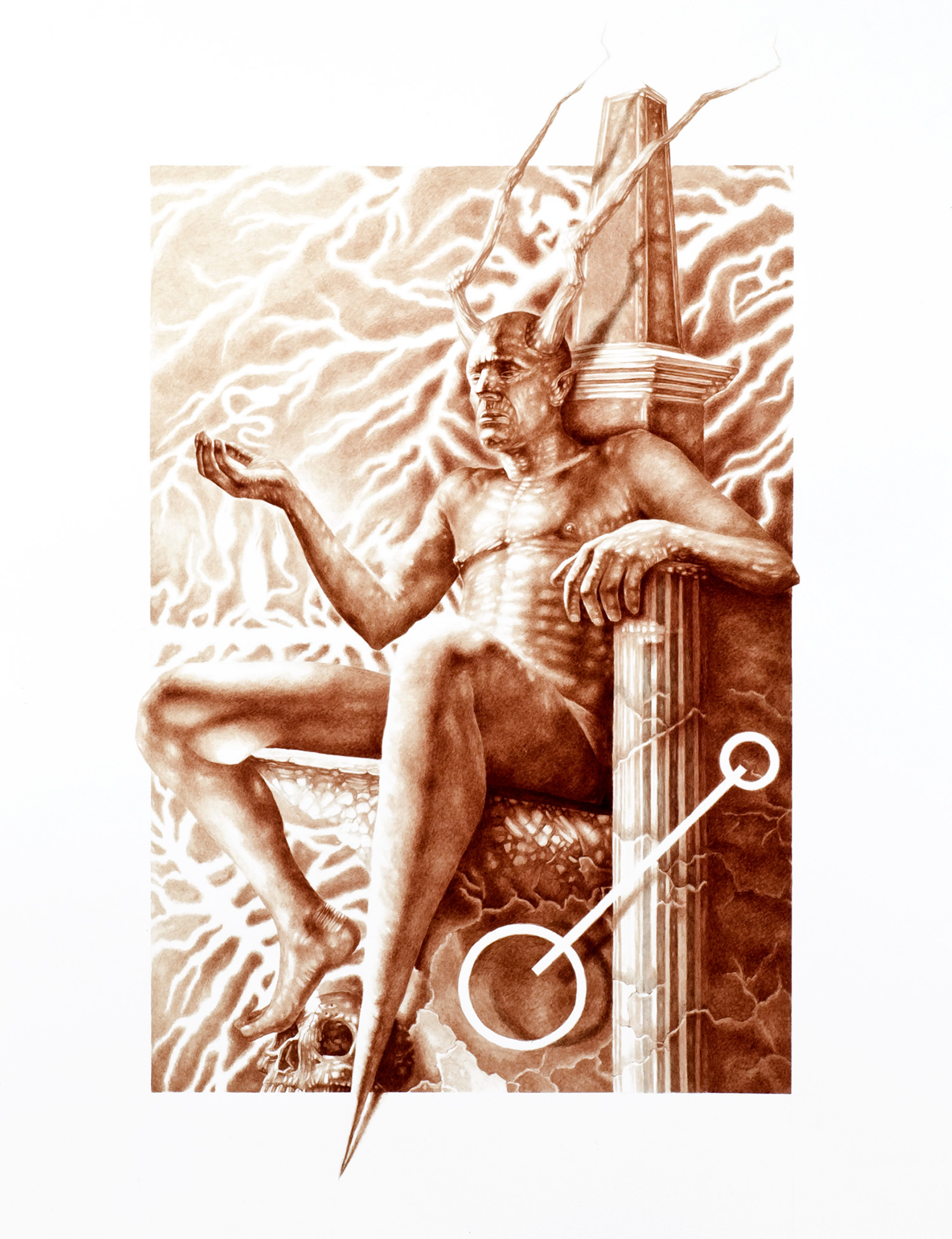 Vincent Castiglia - Throne of Stone, blood painting