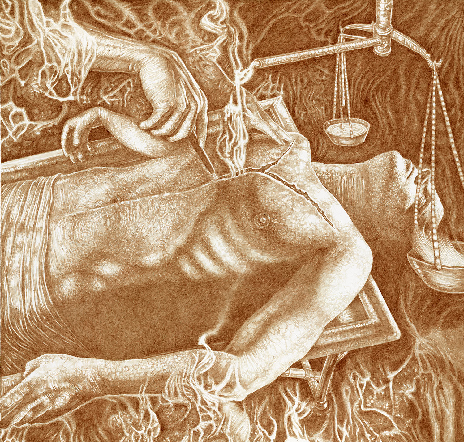 Vincent Castiglia - Autopsy of the Soul, blood painting