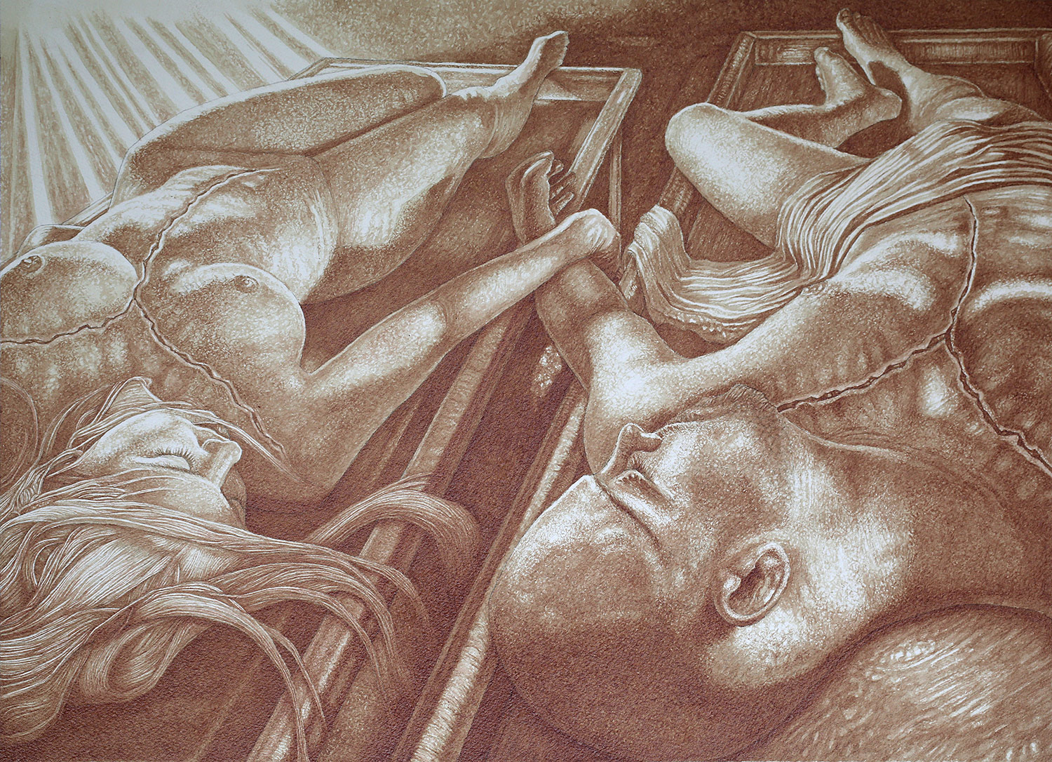Vincent Castiglia - Beauty and Truth, blood painting