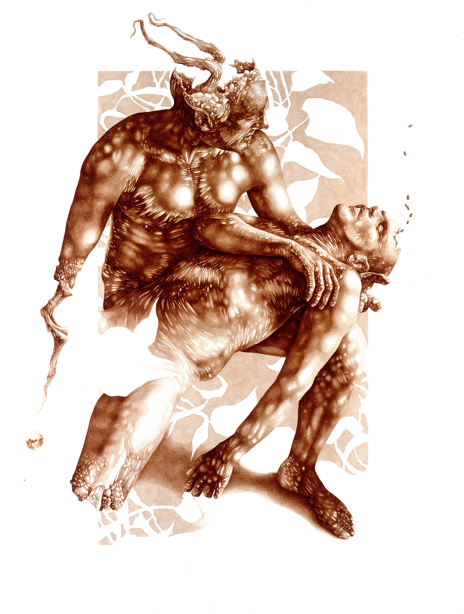 Vincent Castiglia - The Sleep, blood painting