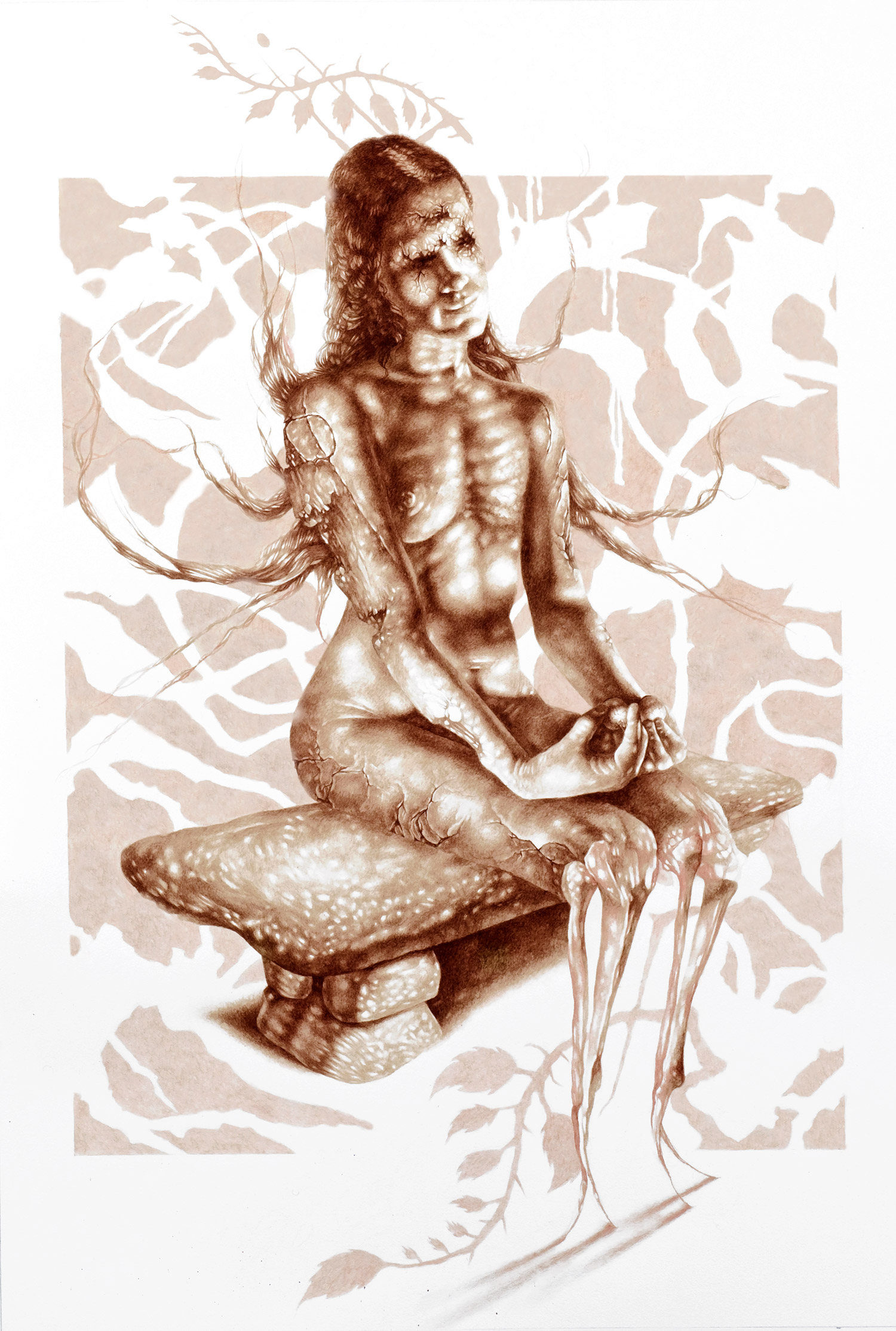 Vincent Castiglia - The Stare, blood painting