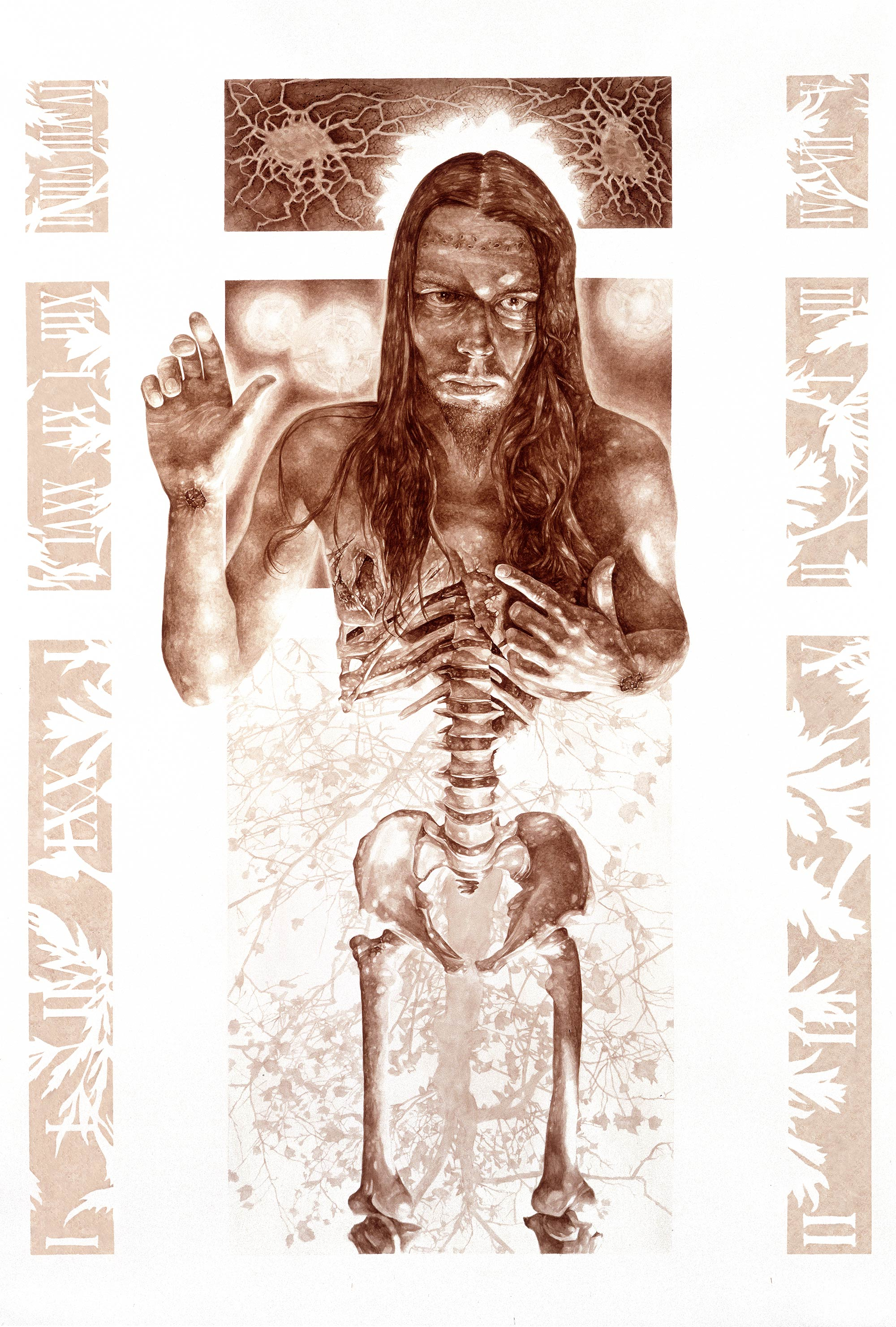 Vincent Castiglia - Stings of the Lash, blood painting