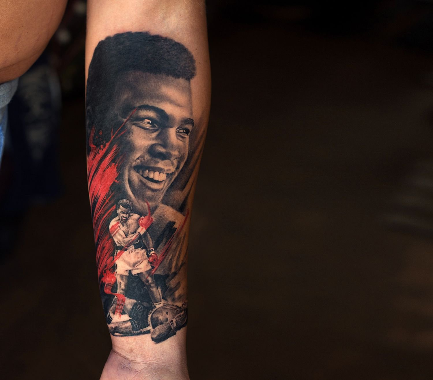 muhammad ali tattoo by sunny, aliens tattoo