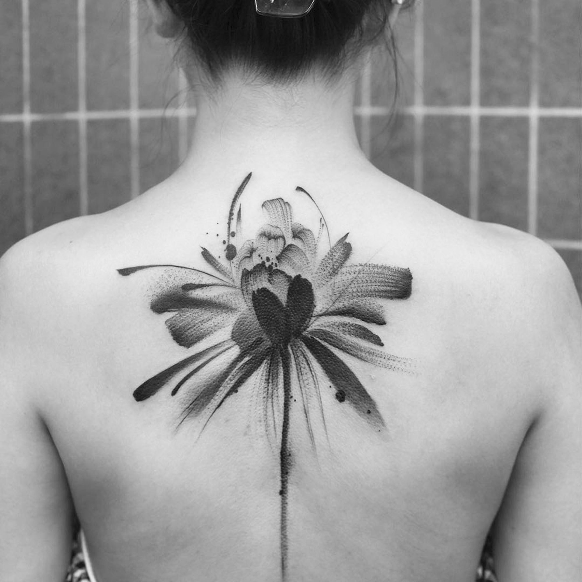 Traditional Chinese Ink Wash Translated into Tattoos by Chen Jie