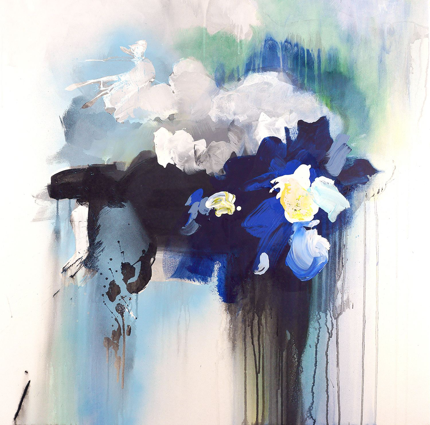 clouds, abstract painting, blotches