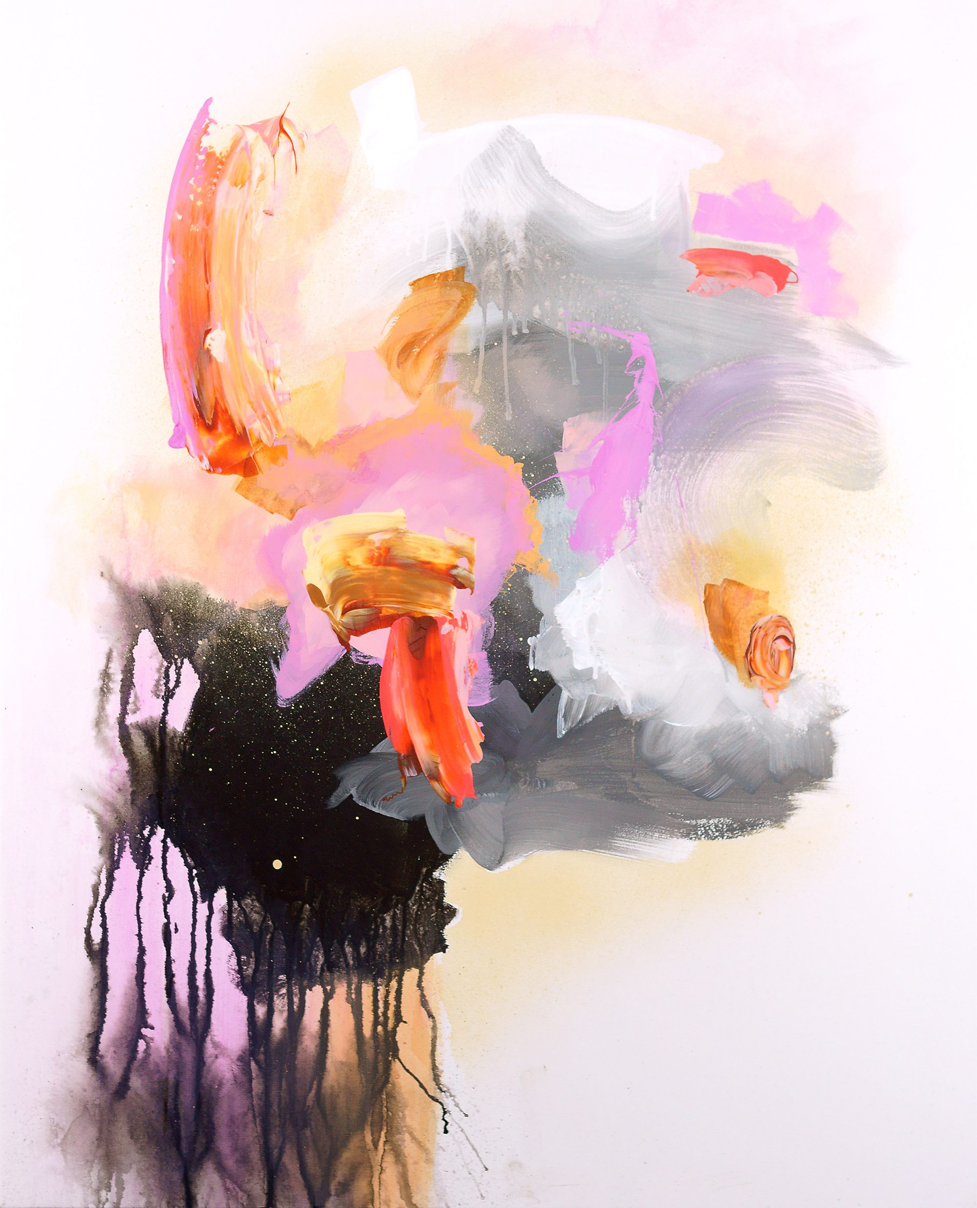 Intervention and Letting Go: Experimental Paintings by Sylvie Adams