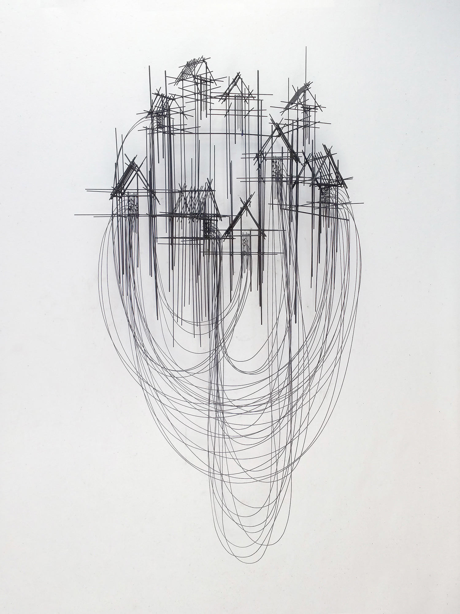 David Moreno - sculpture, dark houses