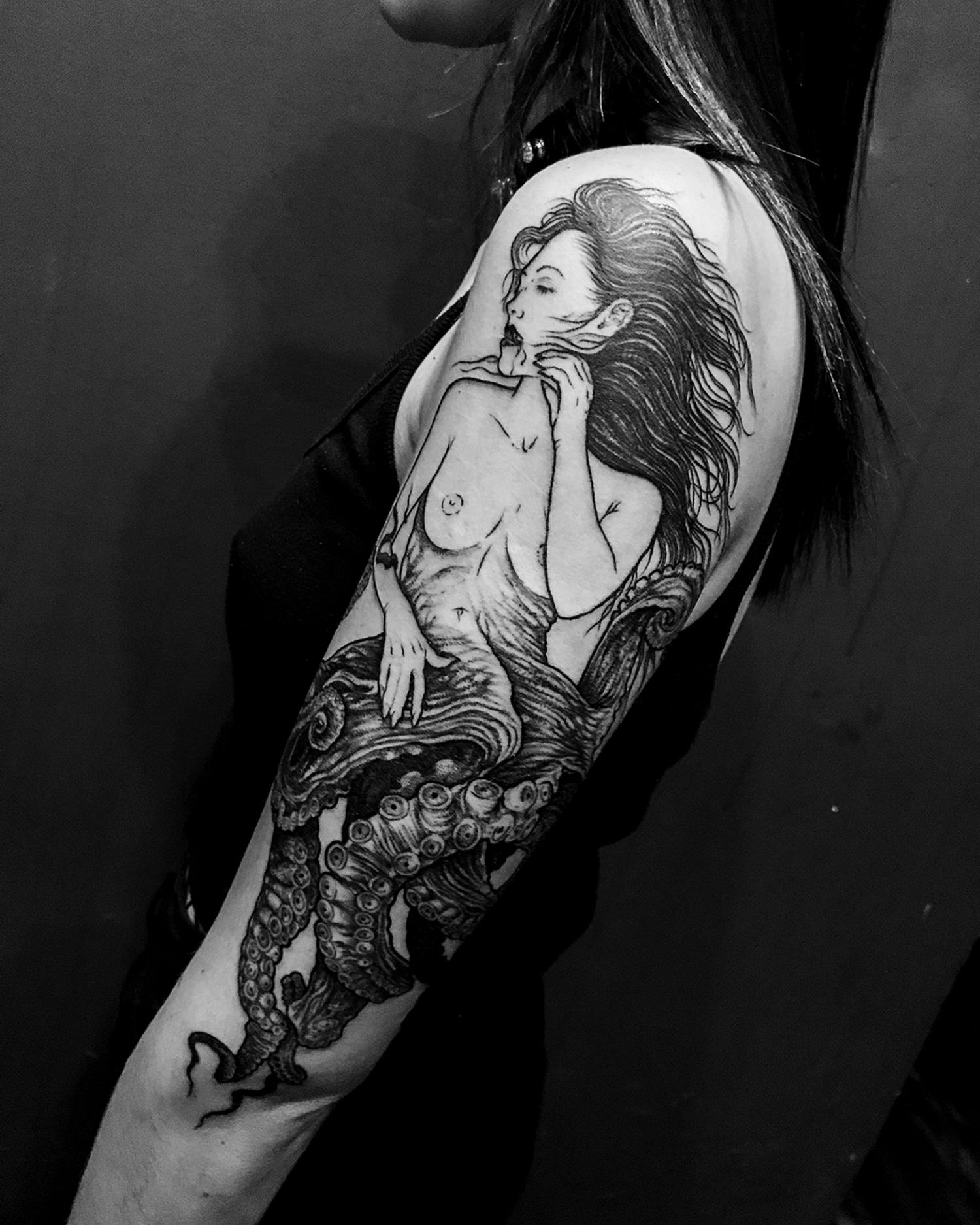 Jeanchoir - Sombre Tache - tentacle woman