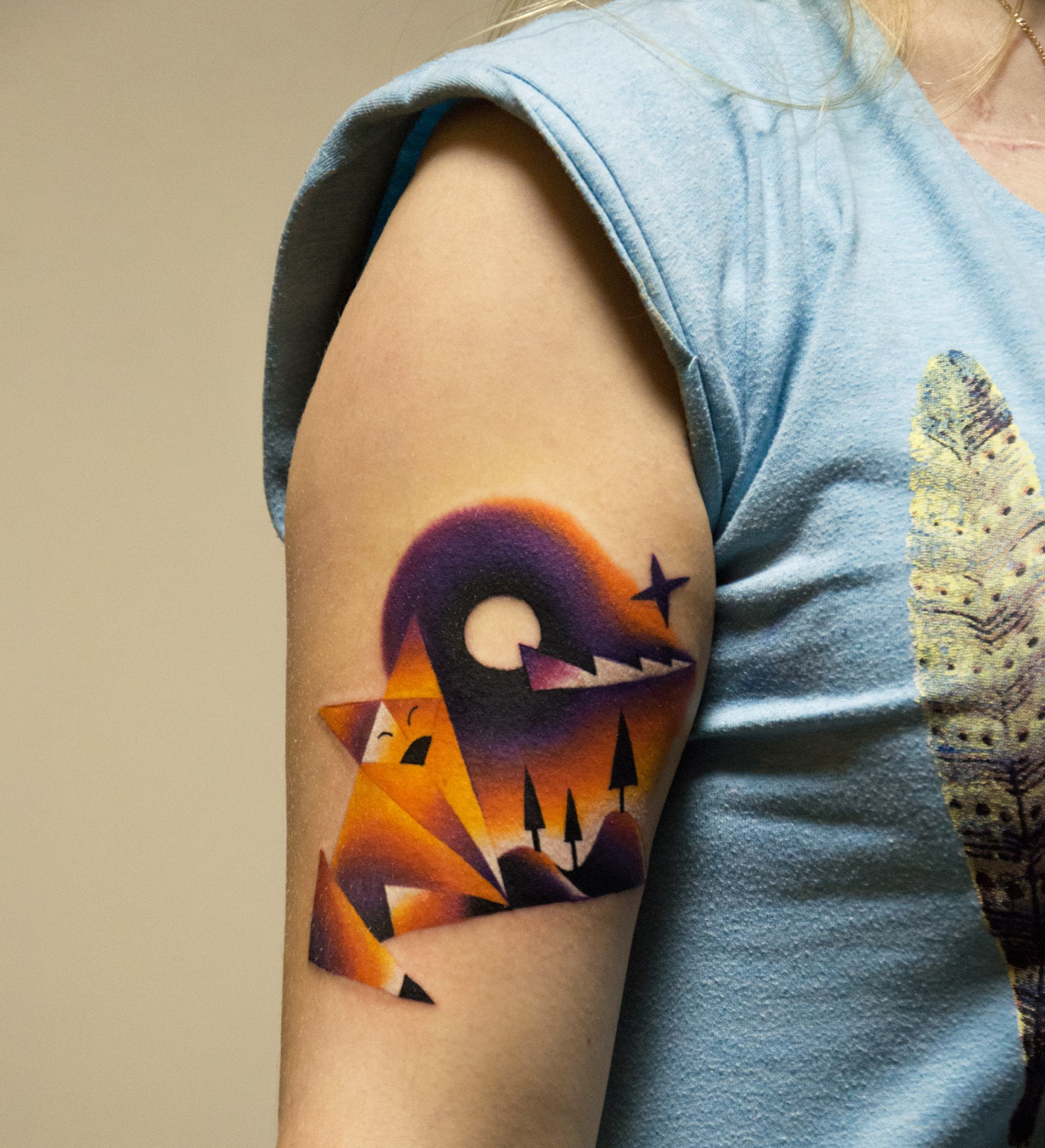 Tattoo on arm, Polypictures Illustration by Anton Mikhalenkov