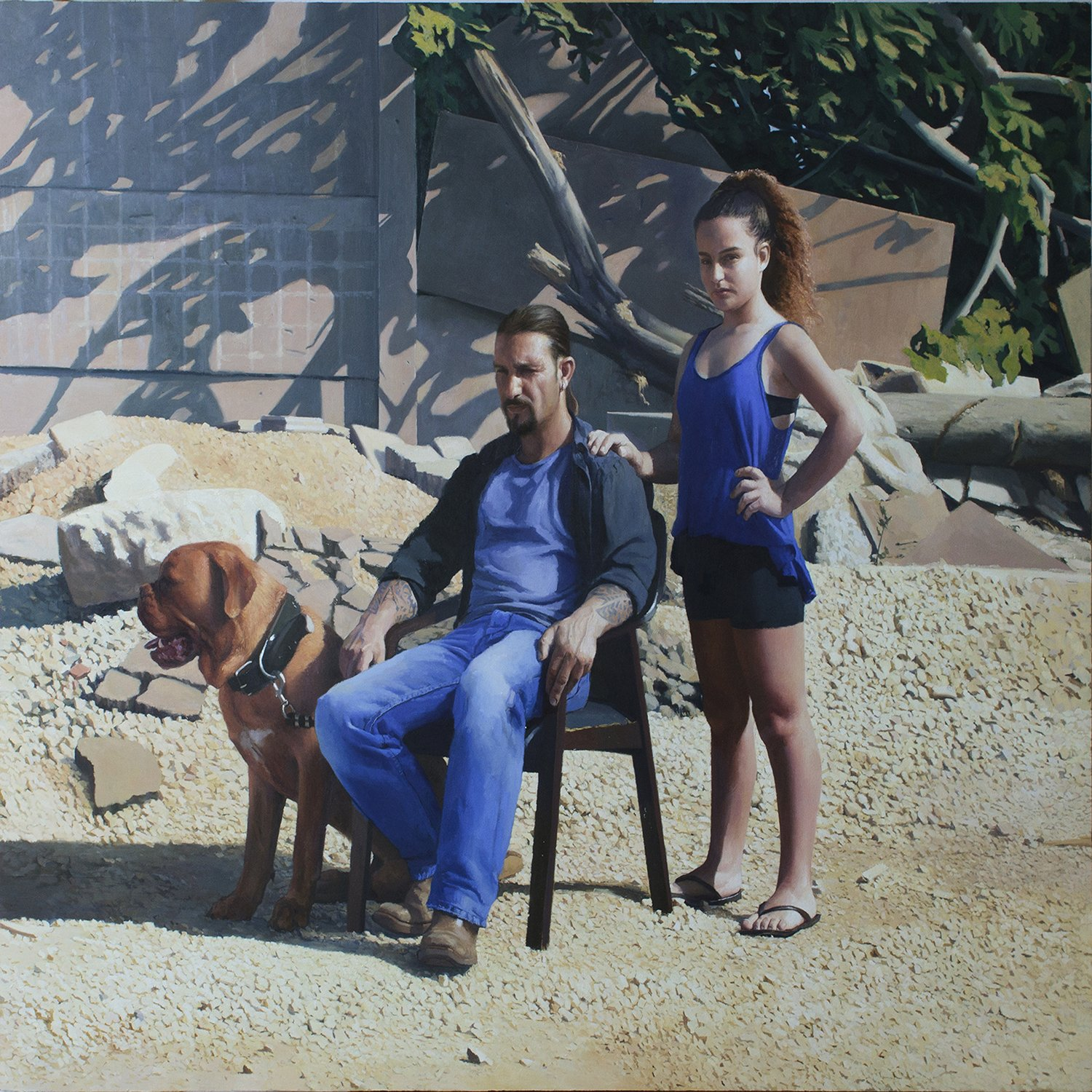 """Annabelle and Guy"" Painting by Matan Ben Cnaan"