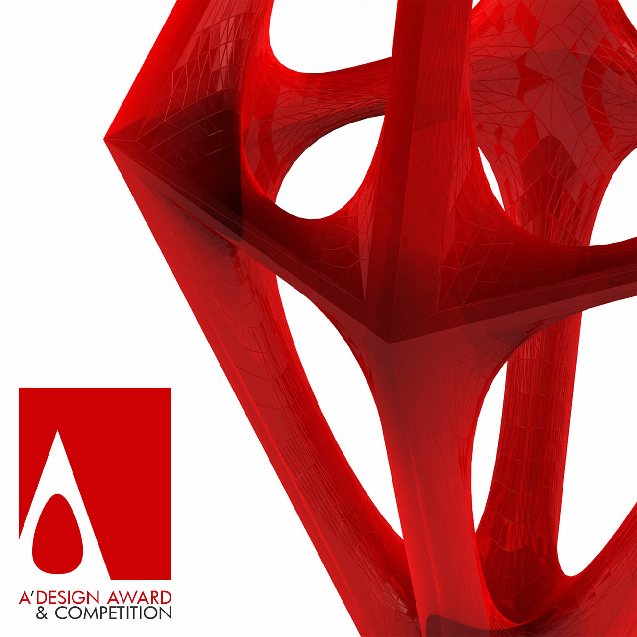 Adesign awards and competition red trophy