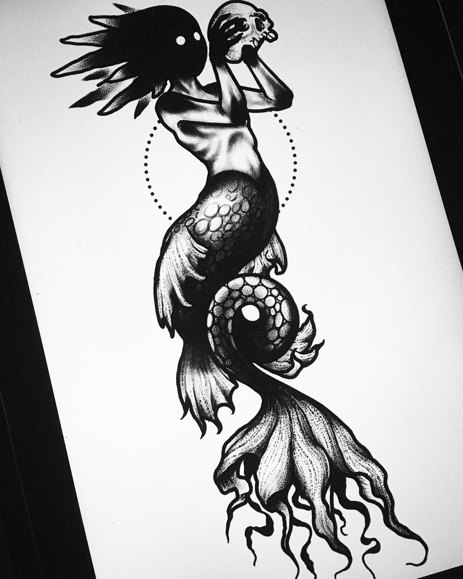 Agatha Schnips - mermaid darkhead