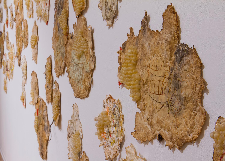 Heather Komus - Gorge and Grow close-up intestine art