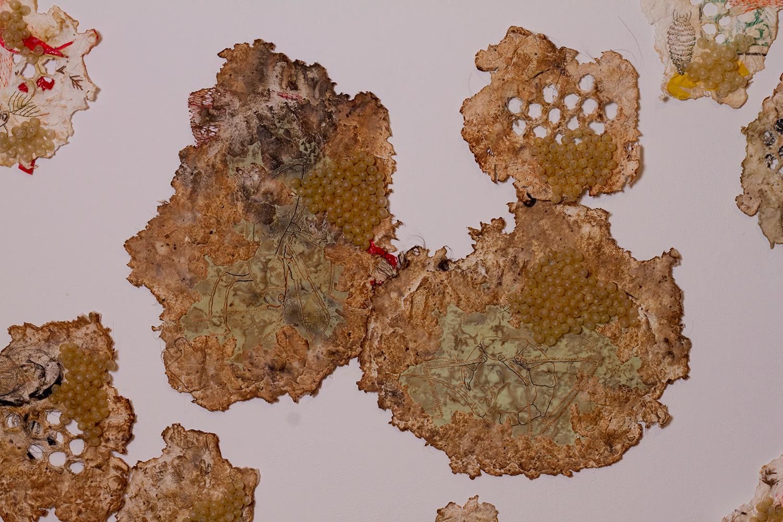 Heather Komus - Gorge and Grow - intestine art
