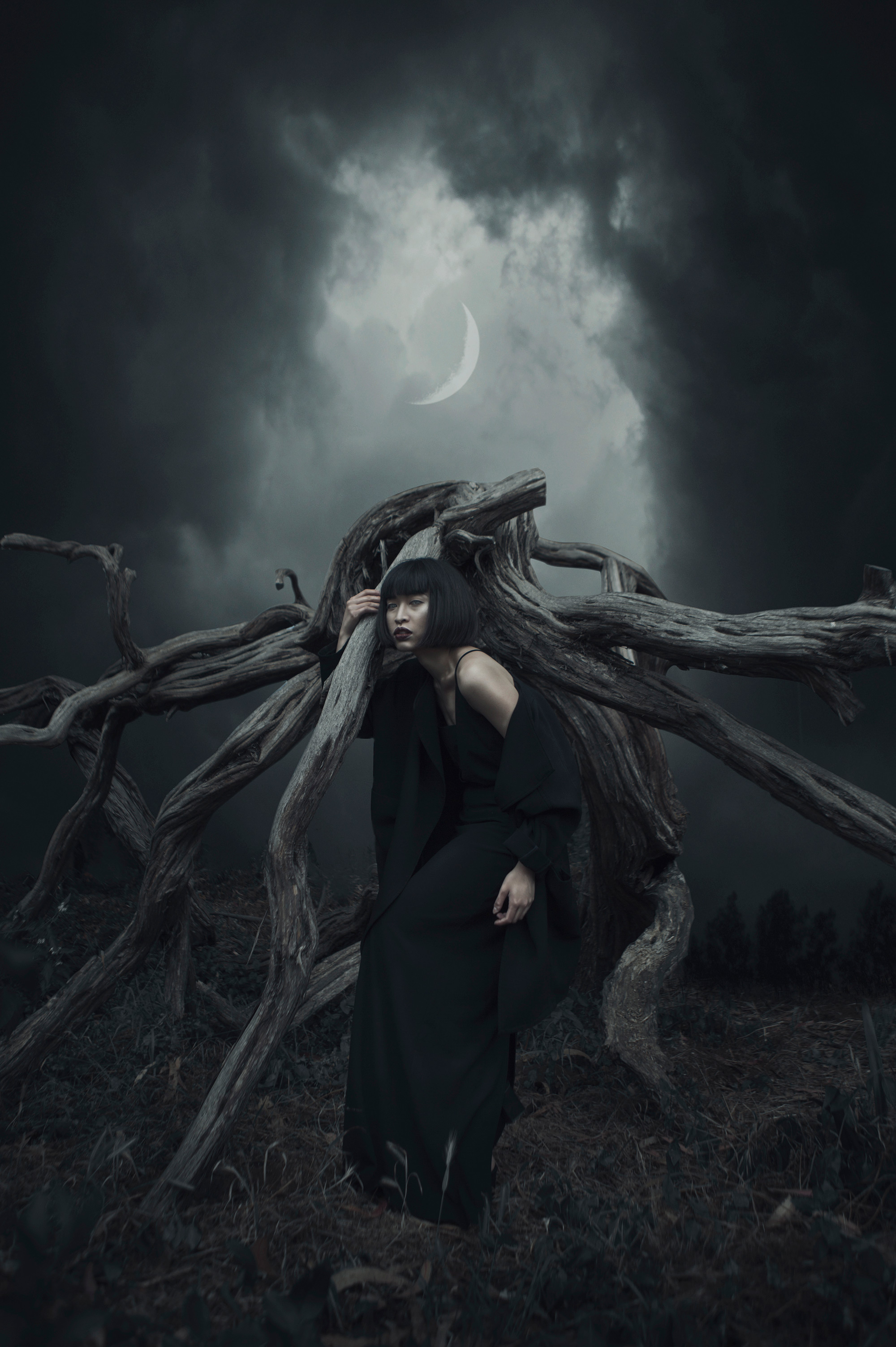 Image of: Surreal Clouded Eyes And Dark Horizons Photography By Karina Boissonnier Scene360 Dark Art Scene360