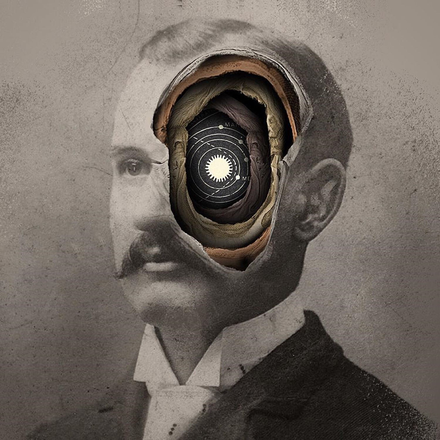 hole in eye, portrait