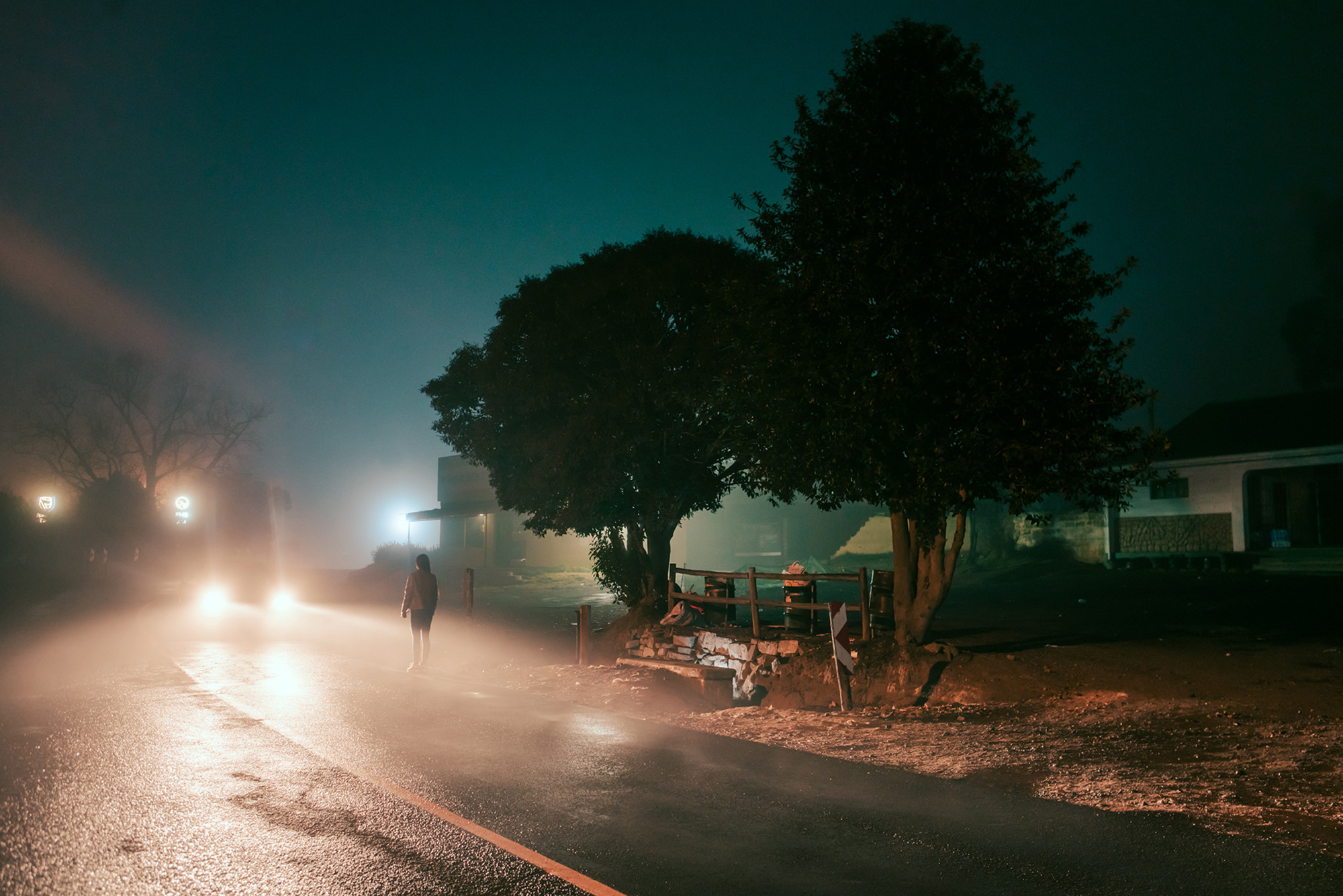 Elsa Bleda - Nottingham Road - standing alone on road