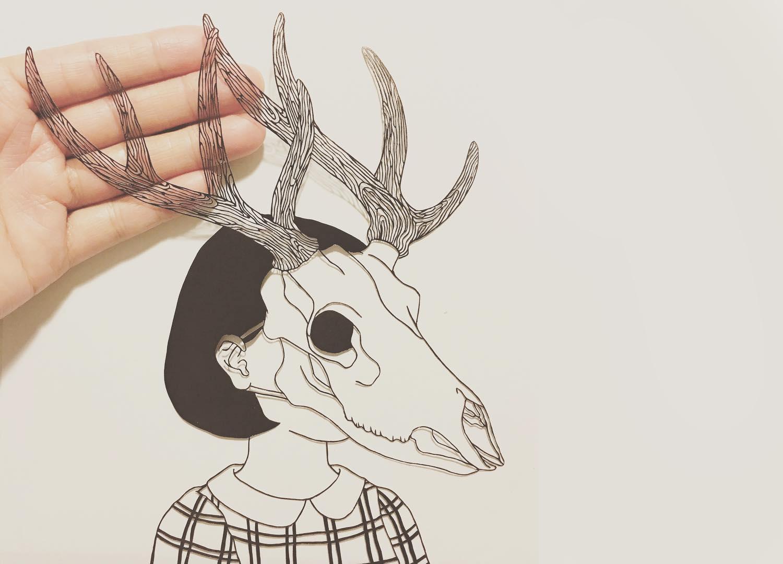 Papercut art by Kanako Abe