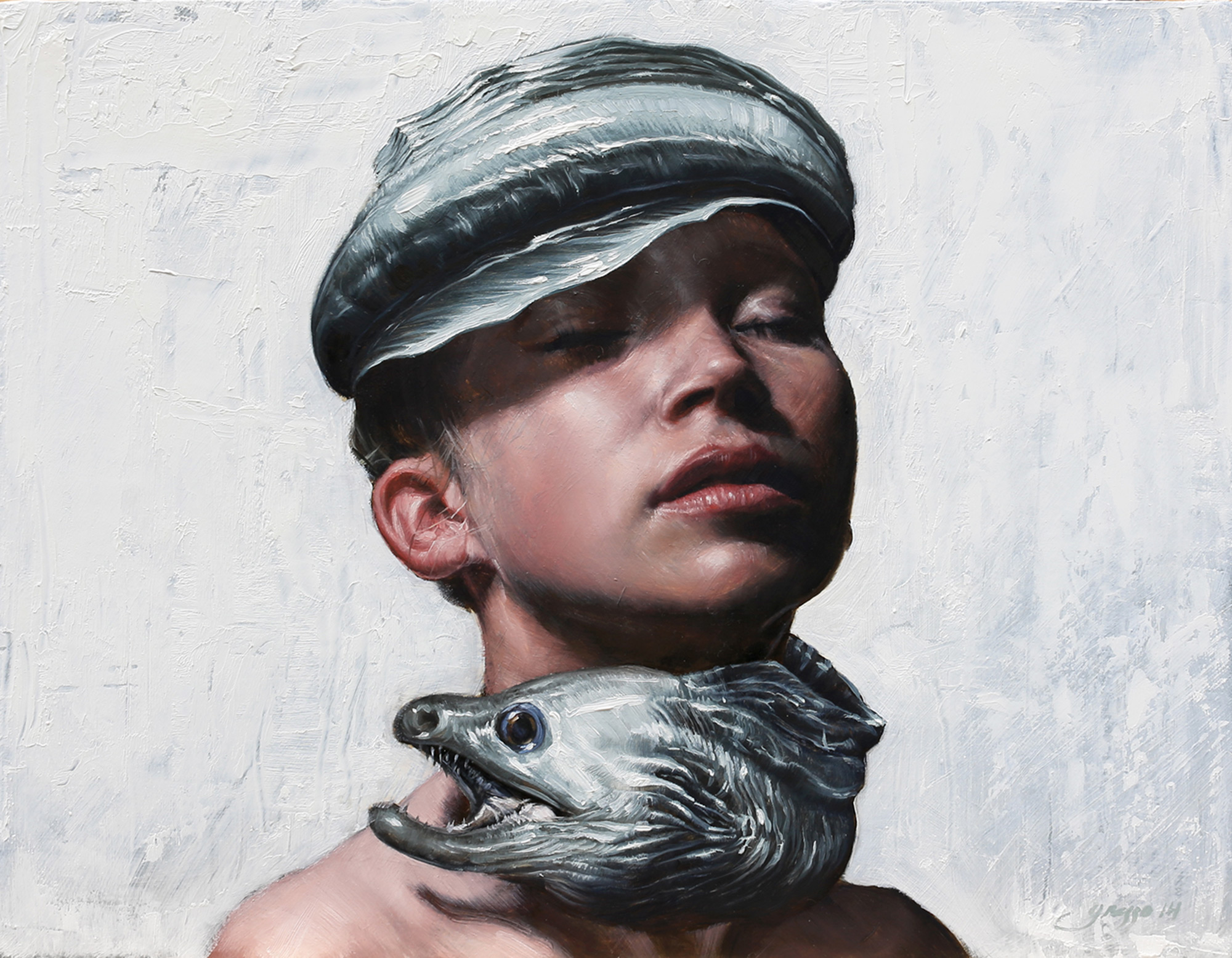 Victor Grasso -- portrait with eel