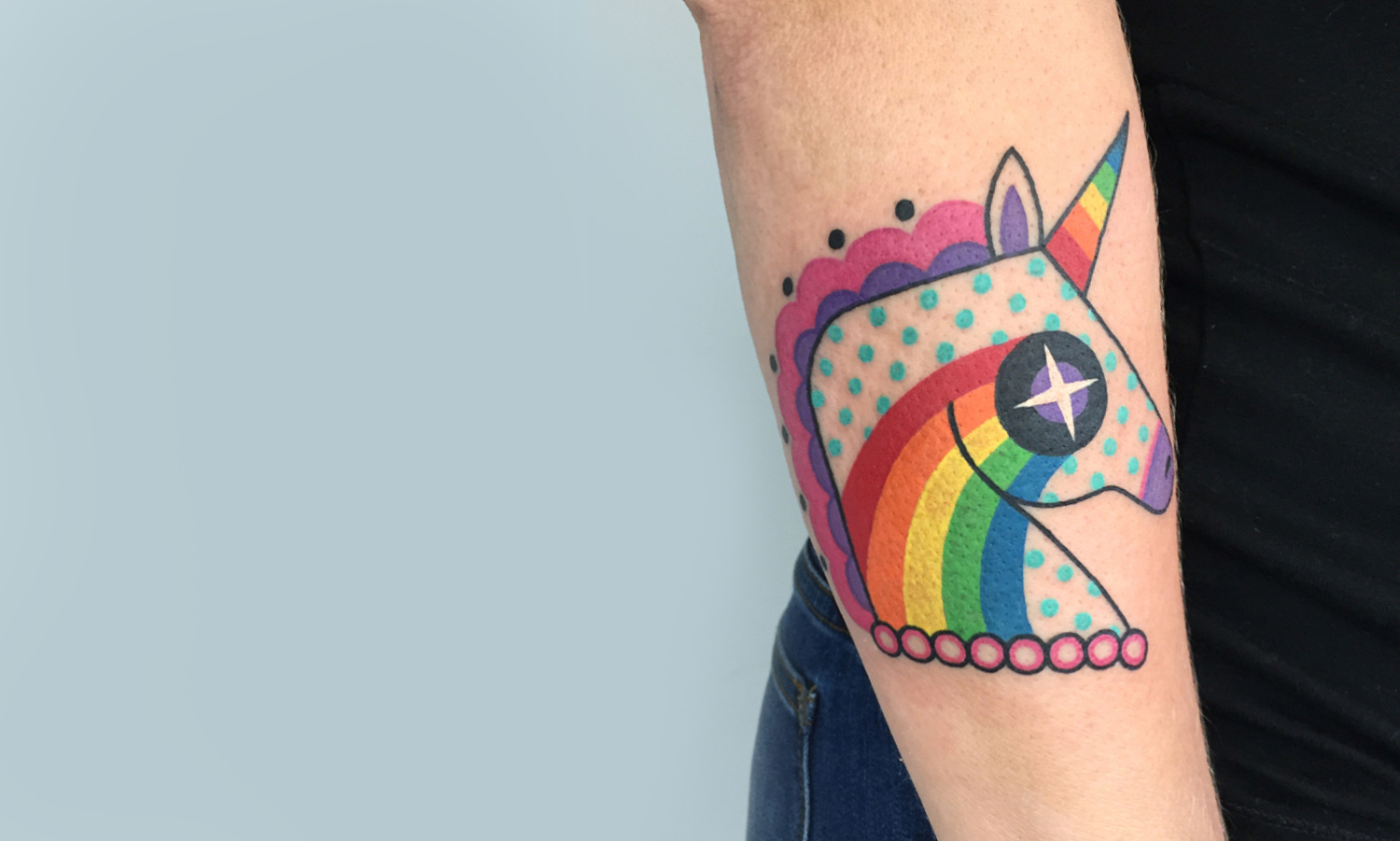 Unicorn tattoo by Winston the Whale