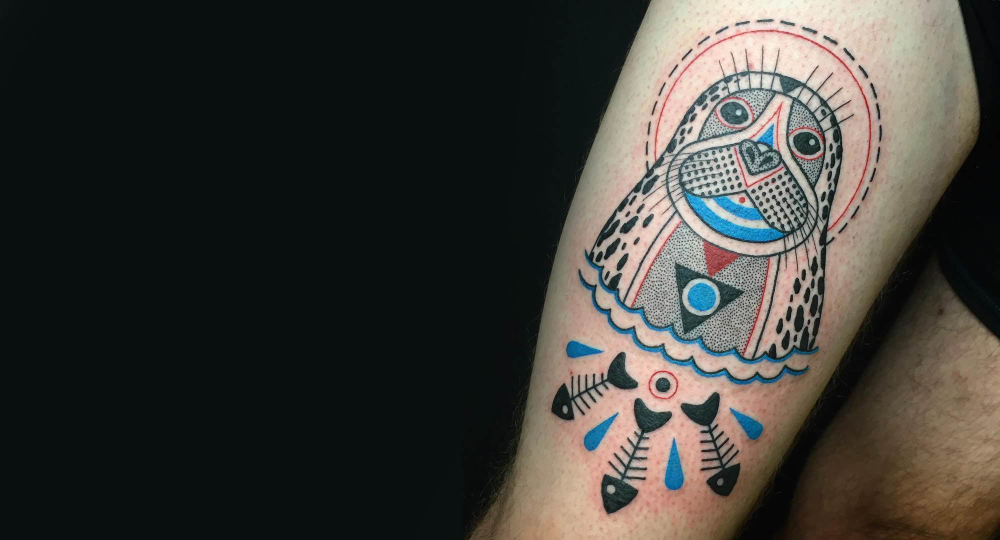 Winston the Whale Keeps It Weird by Inking Trippy Tattoo