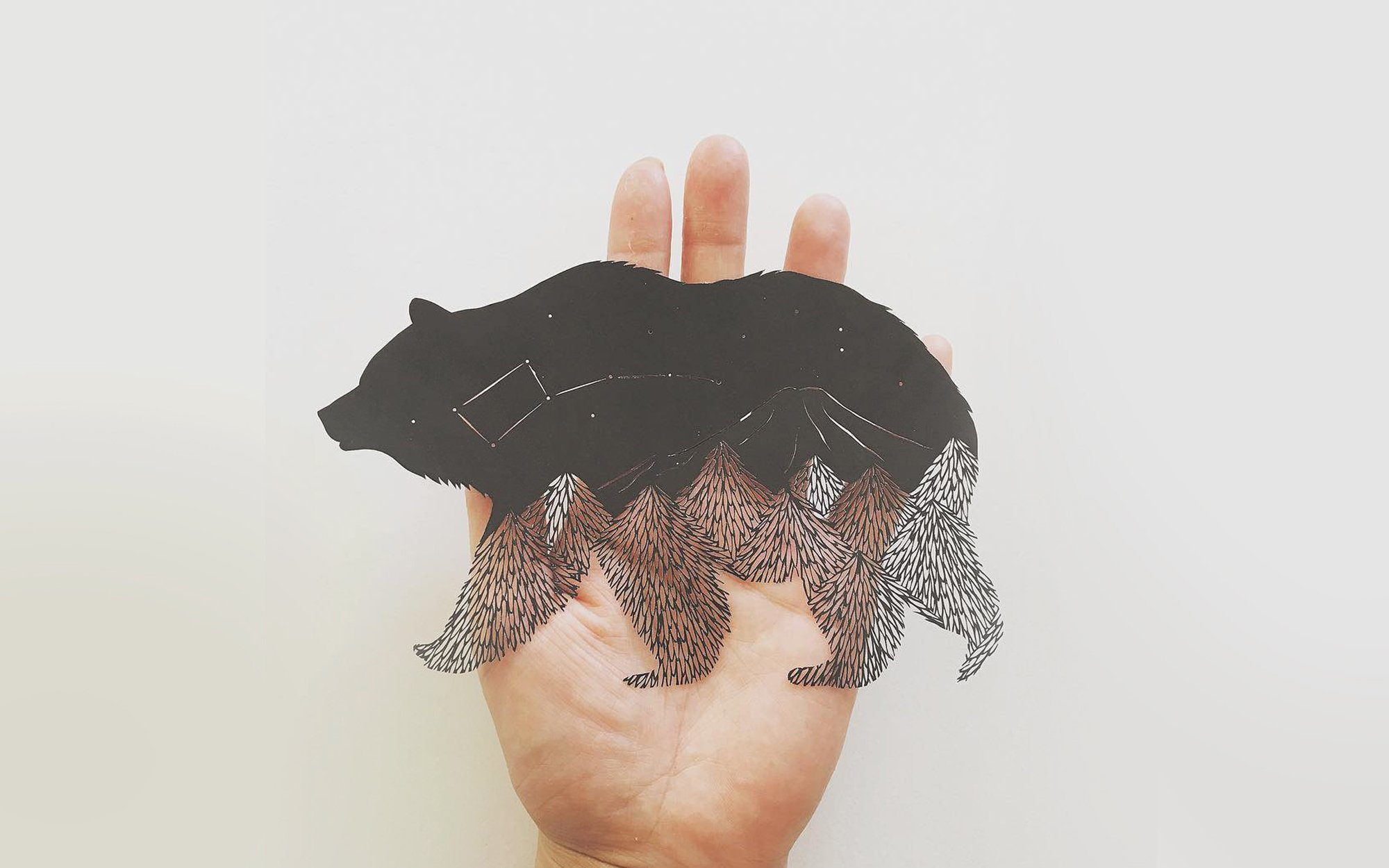 constellation bear, paper art