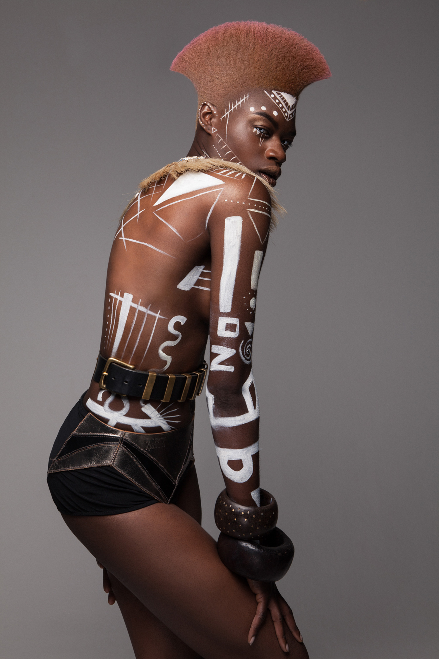 Luke Nugent - British Hair Awards 2016 - Afro Finalist Collection - body paint