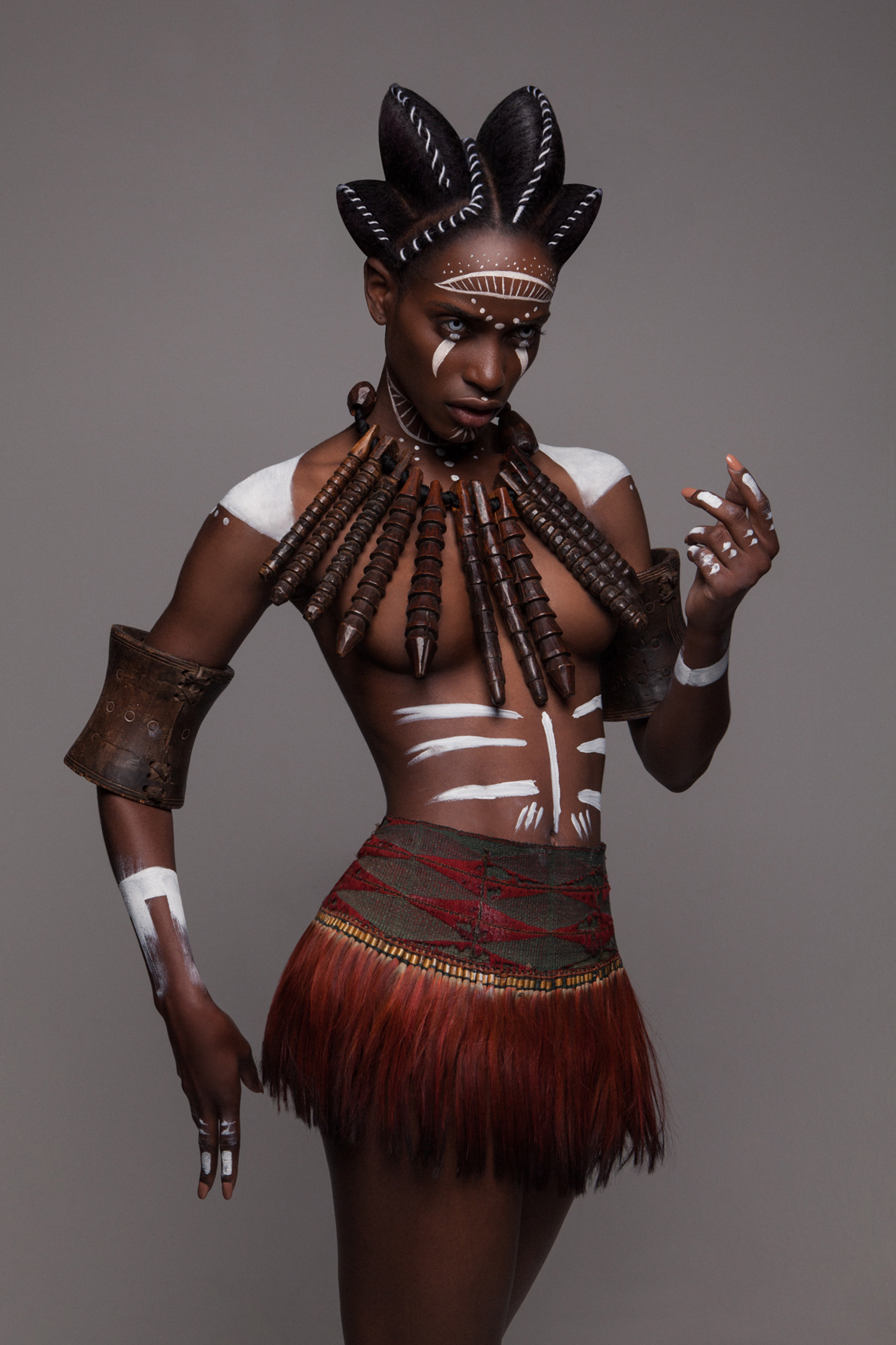 Luke Nugent - British Hair Awards 2016 - Afro Finalist Collection - body paint 2