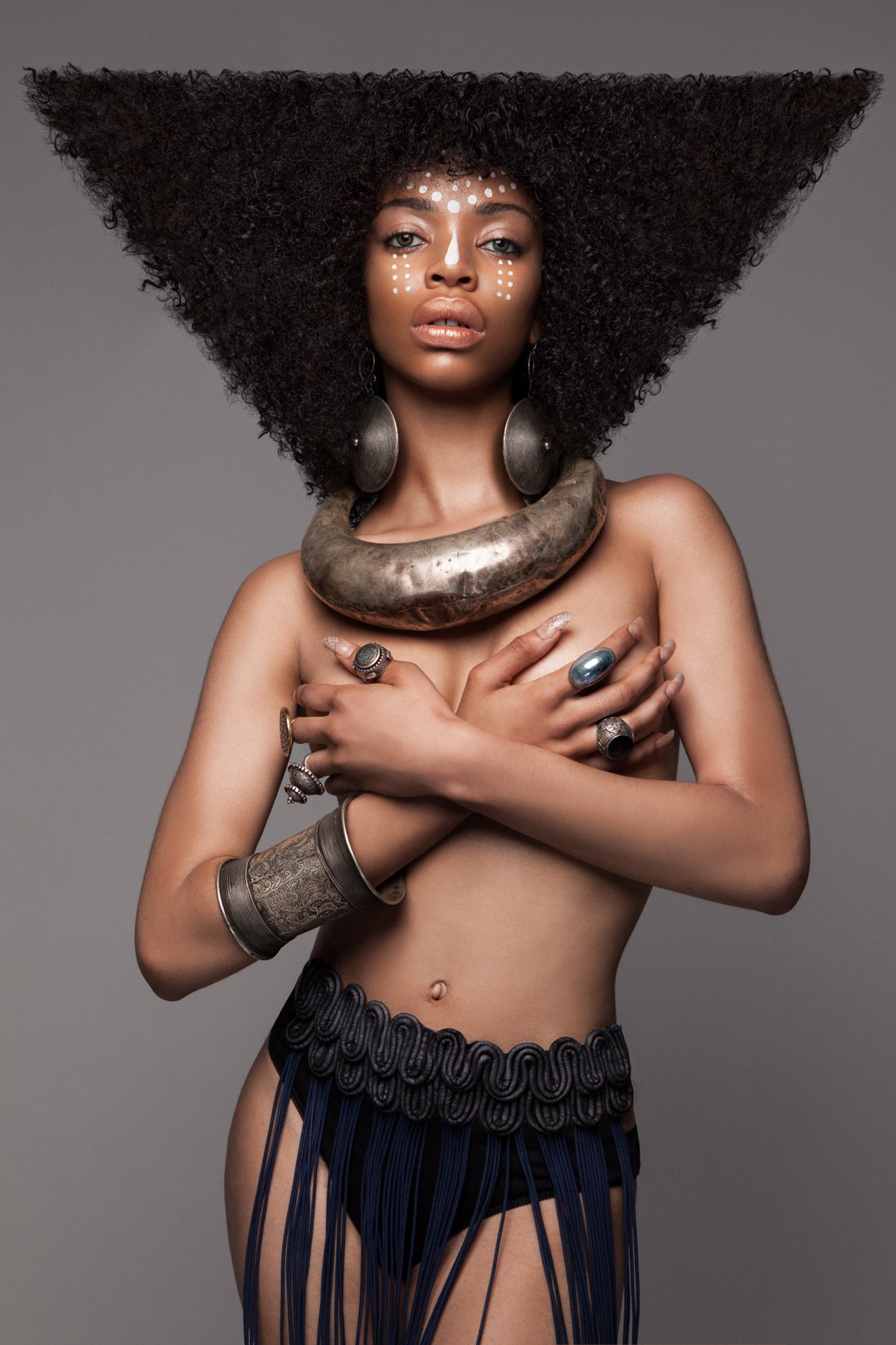 Luke Nugent - British Hair Awards 2016 - Afro Finalist Collection - triangle