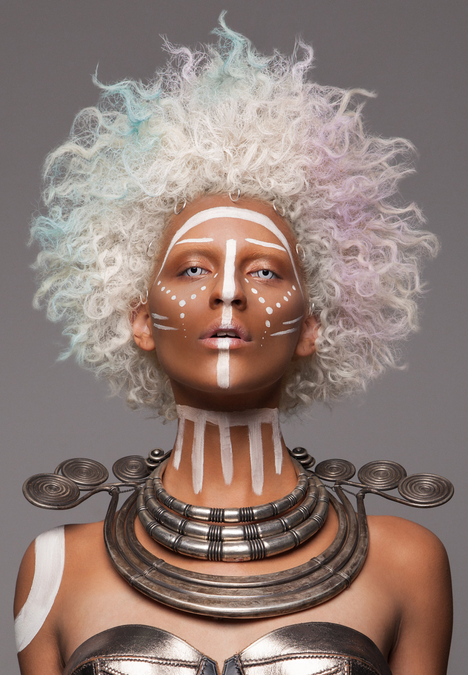 Luke Nugent - British Hair Awards 2016 - Afro Finalist Collection - blonde afro