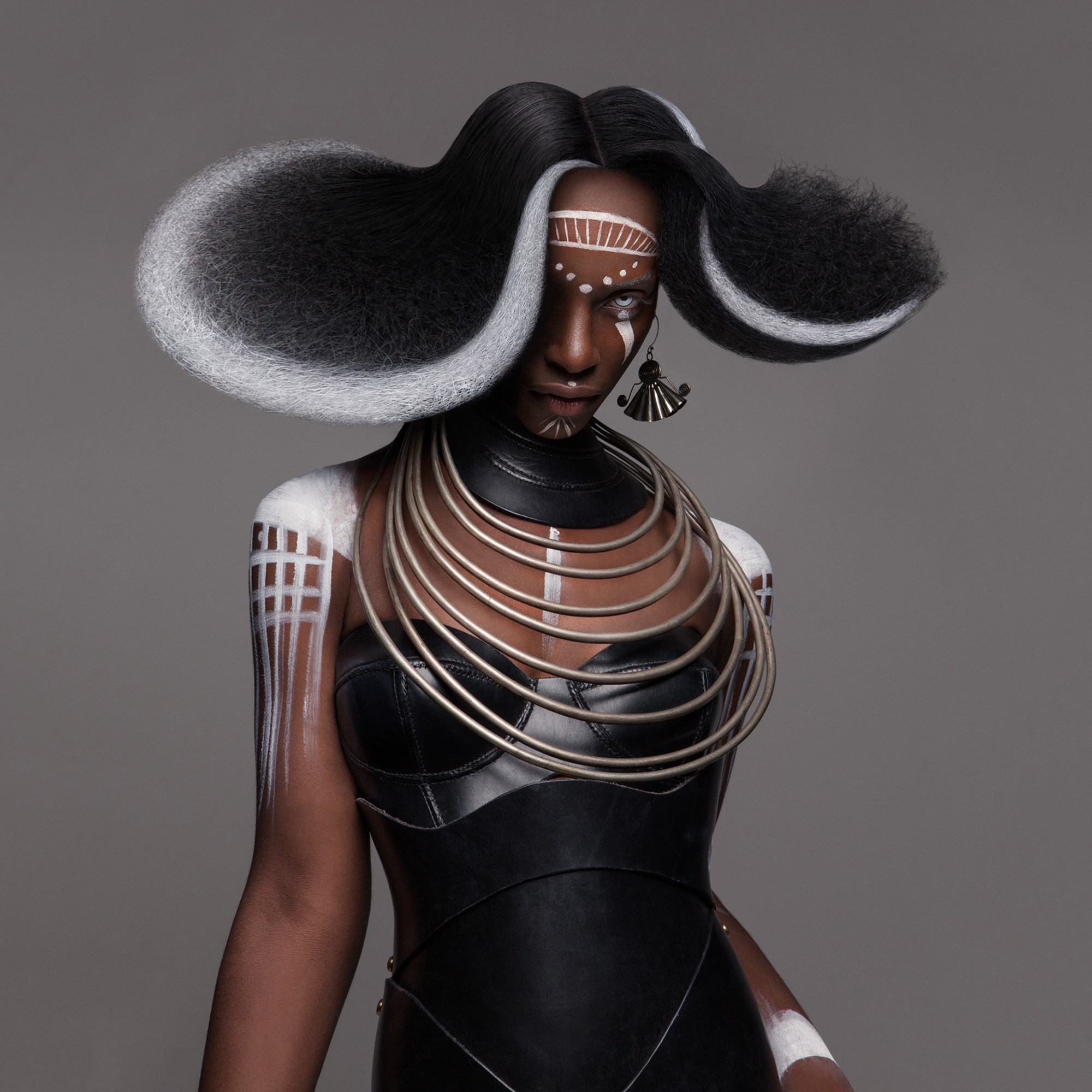 Luke Nugent - British Hair Awards 2016 - Afro Finalist Collection - abstract hair cover