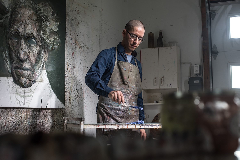 Mathieu Laca - artist painting