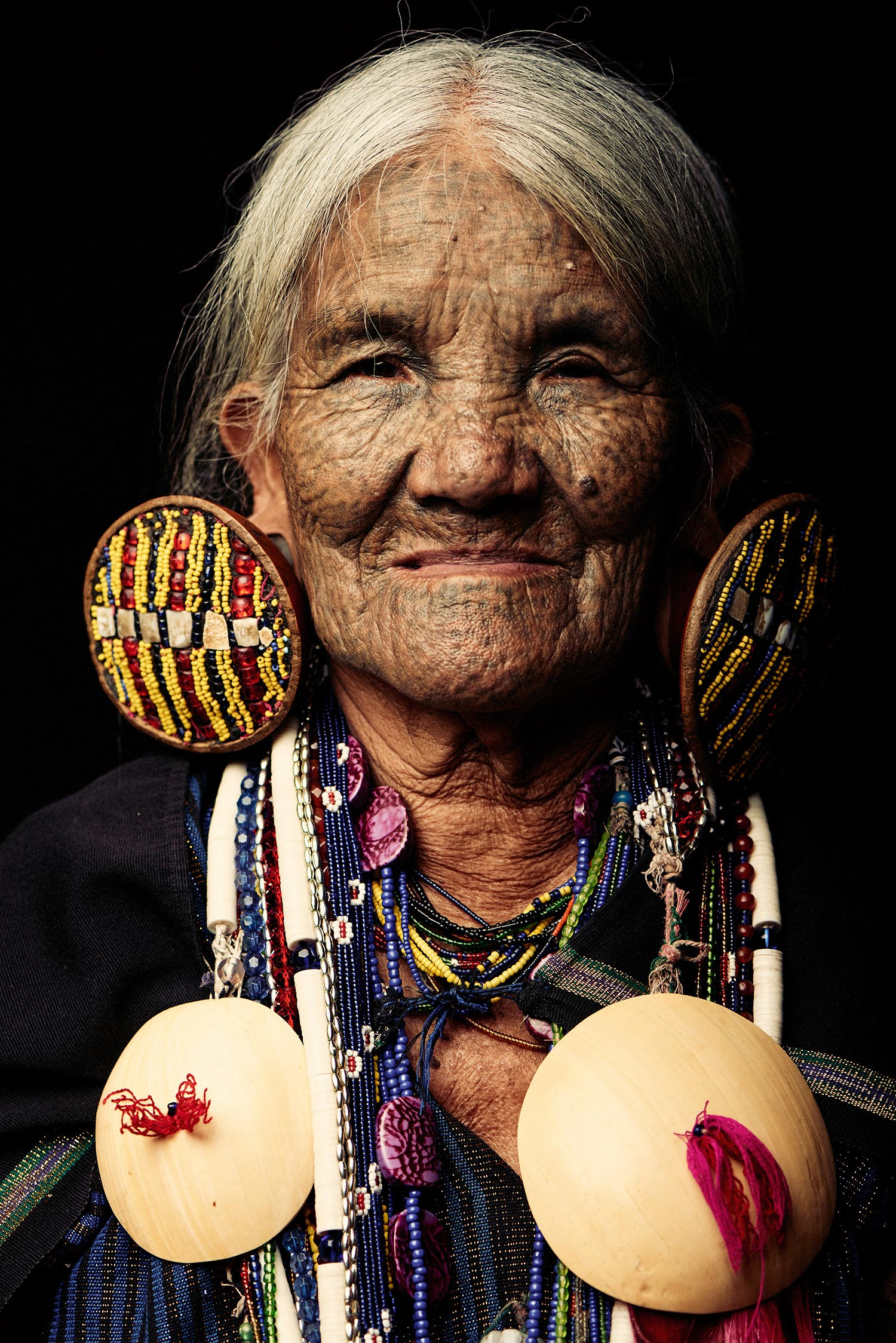 Adam Koziol - Chin tribe, earrings