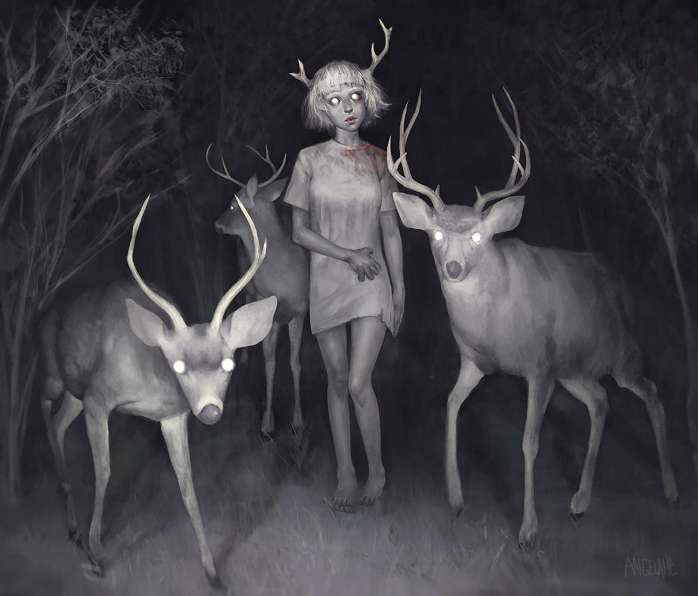 Angela He - deer
