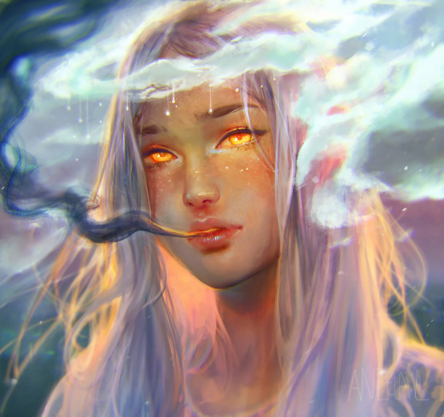 Angela He - ethereal portrait cover