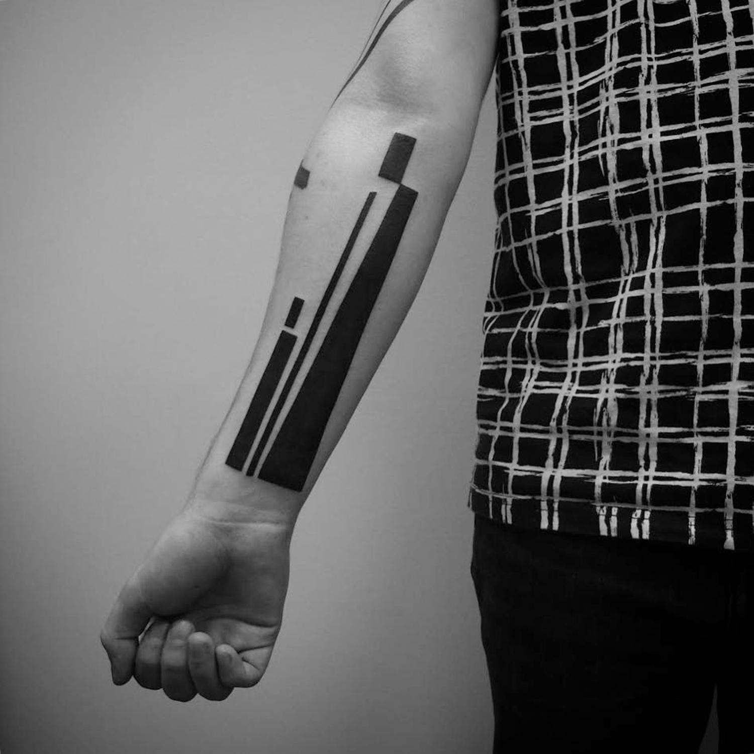 abstract shapes on arm