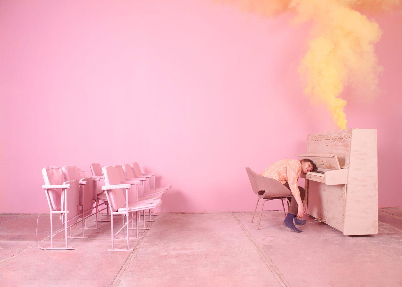 yellow smoke in piano