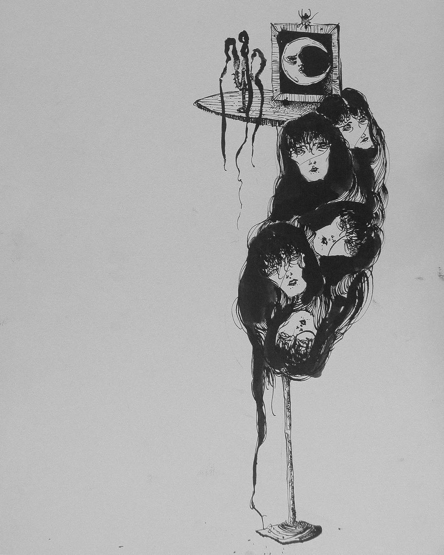 Suhwan Bak - Goth Gloomy tattoo - face cluster