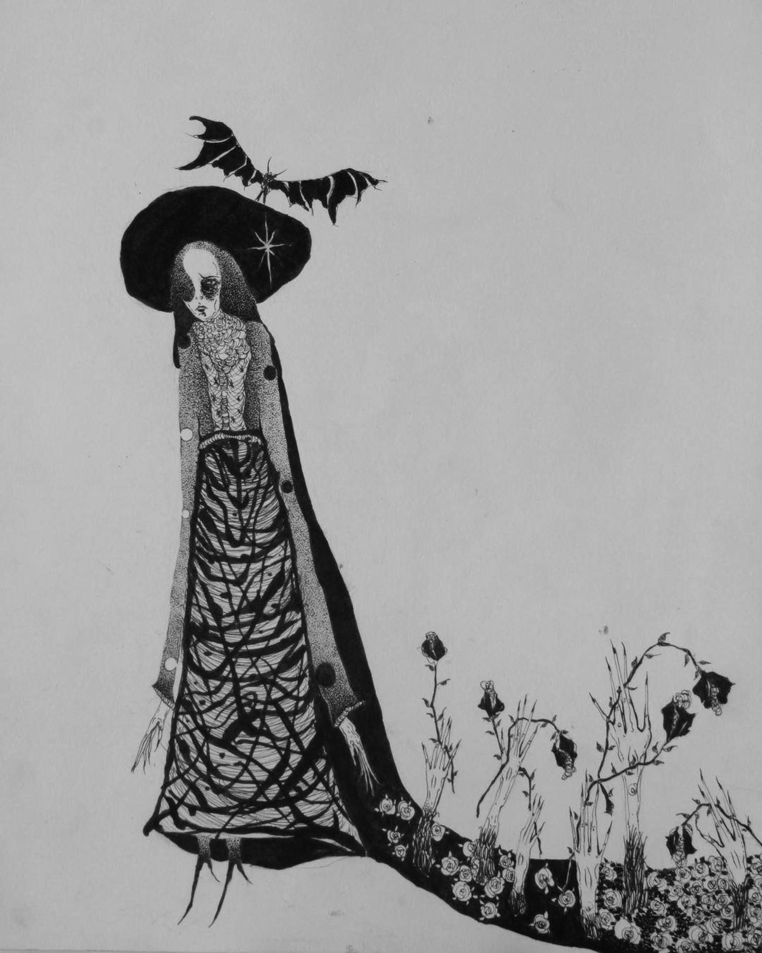 Suhwan Bak - Goth Gloomy tattoo - witch girl