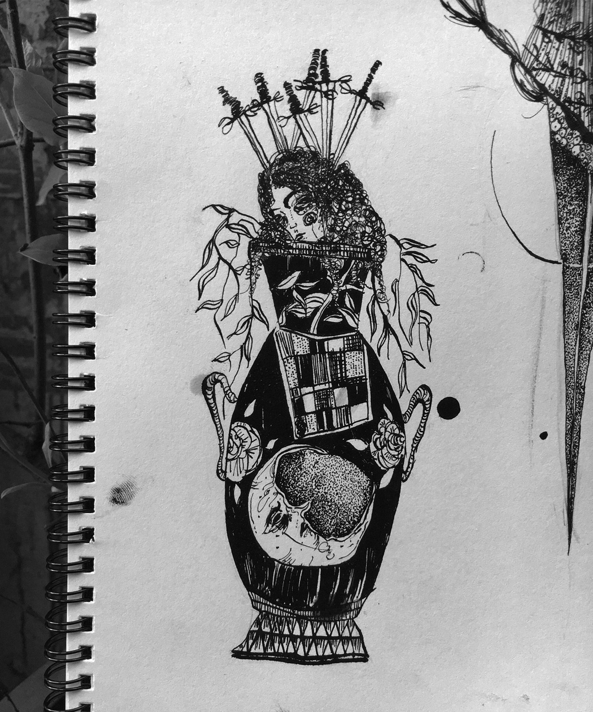 Suhwan Bak - Goth Gloomy tattoo - creepy drawing notebook