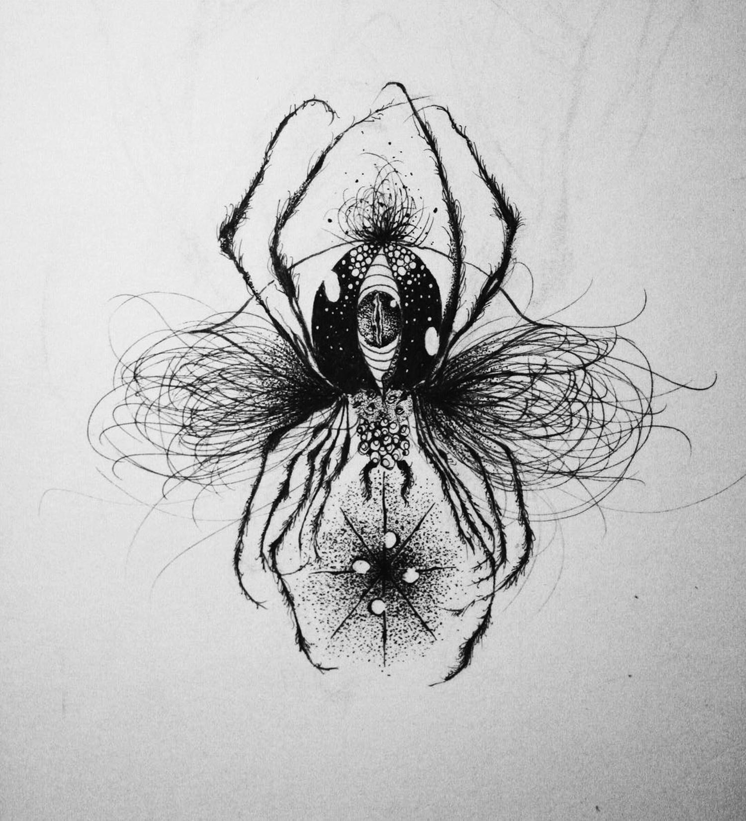Suhwan Bak - Goth Gloomy tattoo - spider