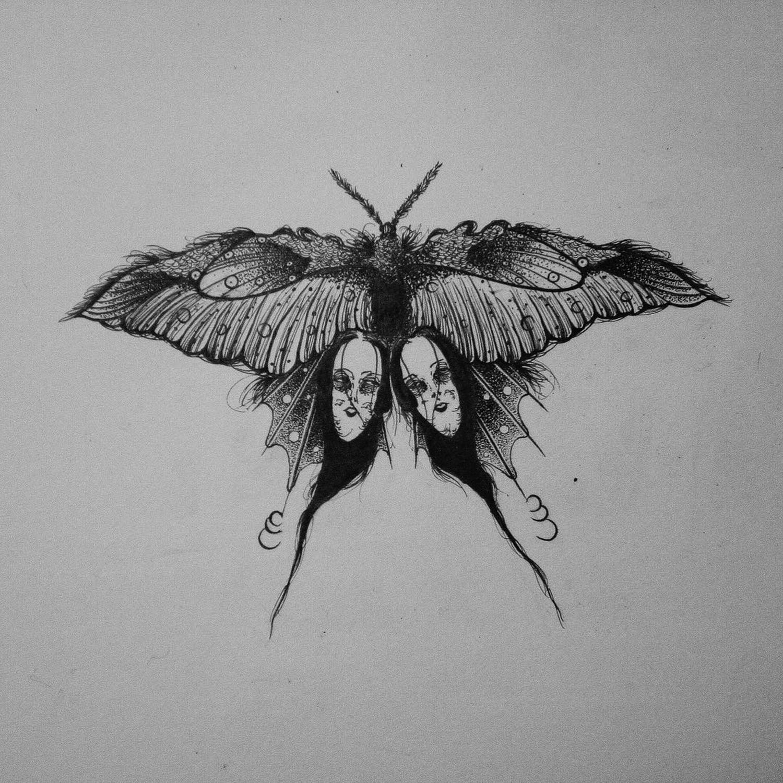 Suhwan Bak - Goth Gloomy tattoo - butterfly