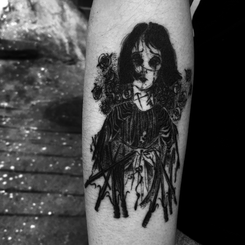 Suhwan Bak - Goth Gloomy tattoo - ghost girl