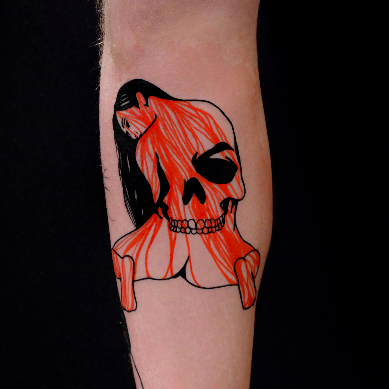 The Wolf Rosario, Rosario Sortino - blood skull body tattoo