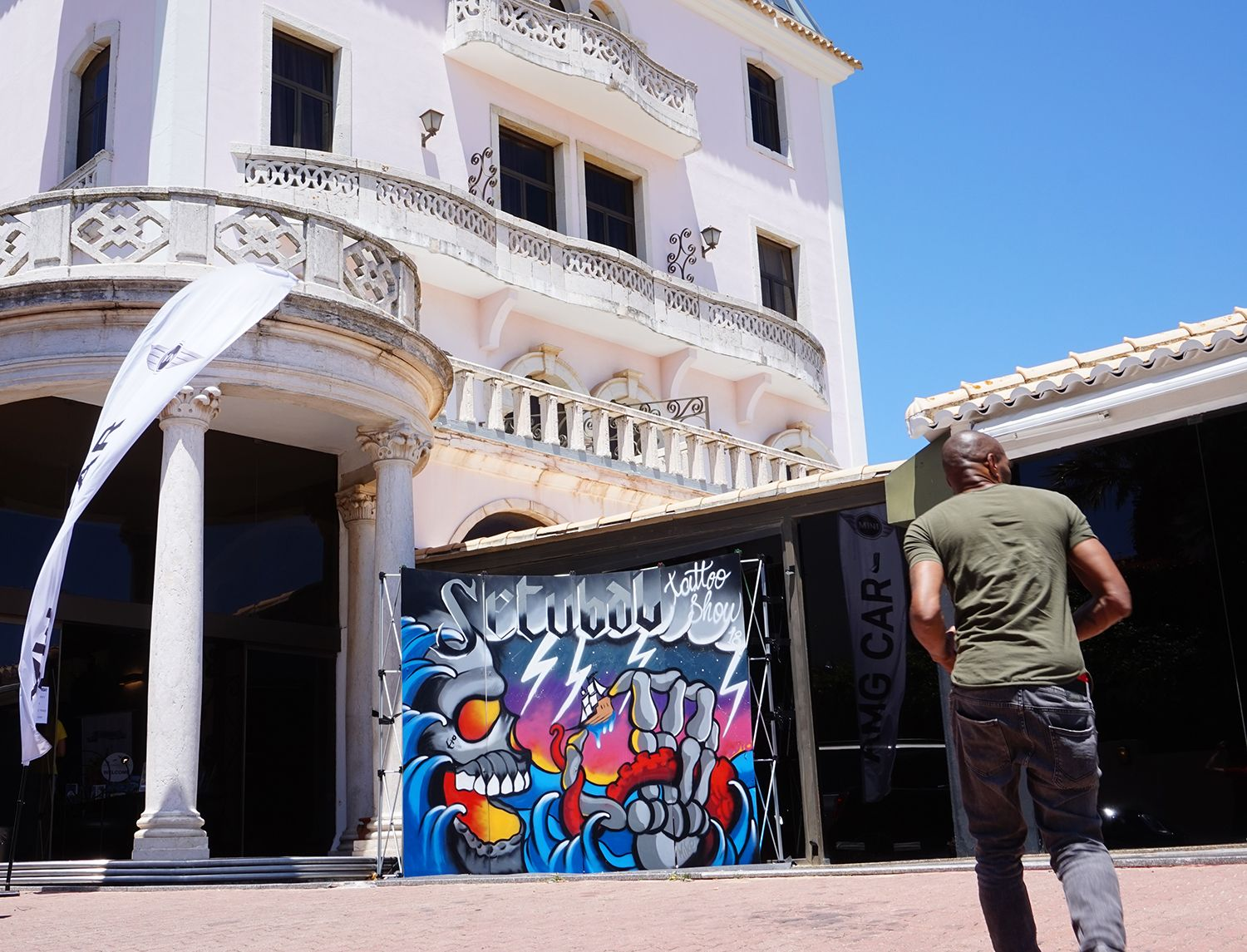 graffiti art, mural by amilcar sousa at setubal tattoo show