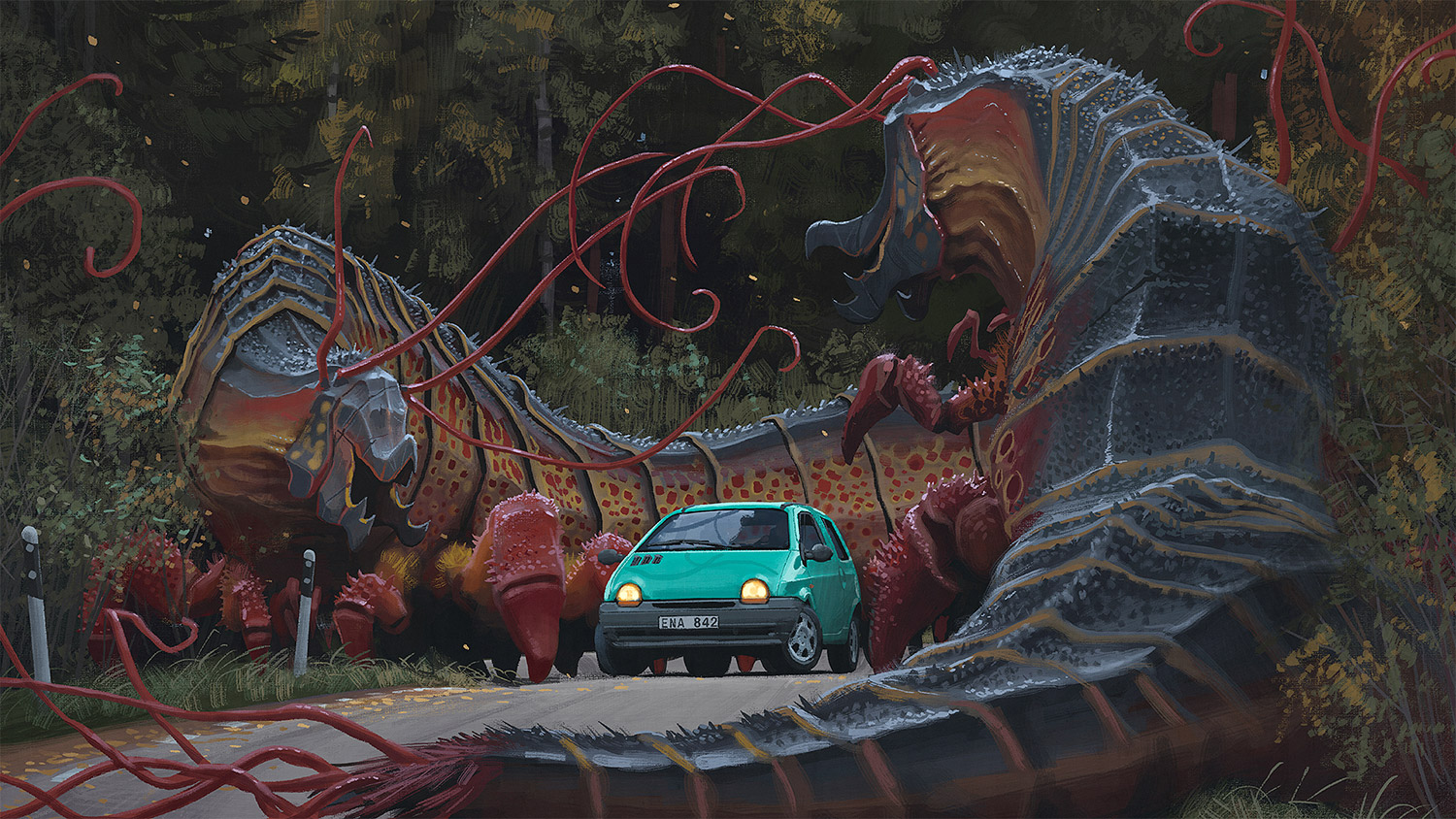 Simon Stalenhag - overgrown worms