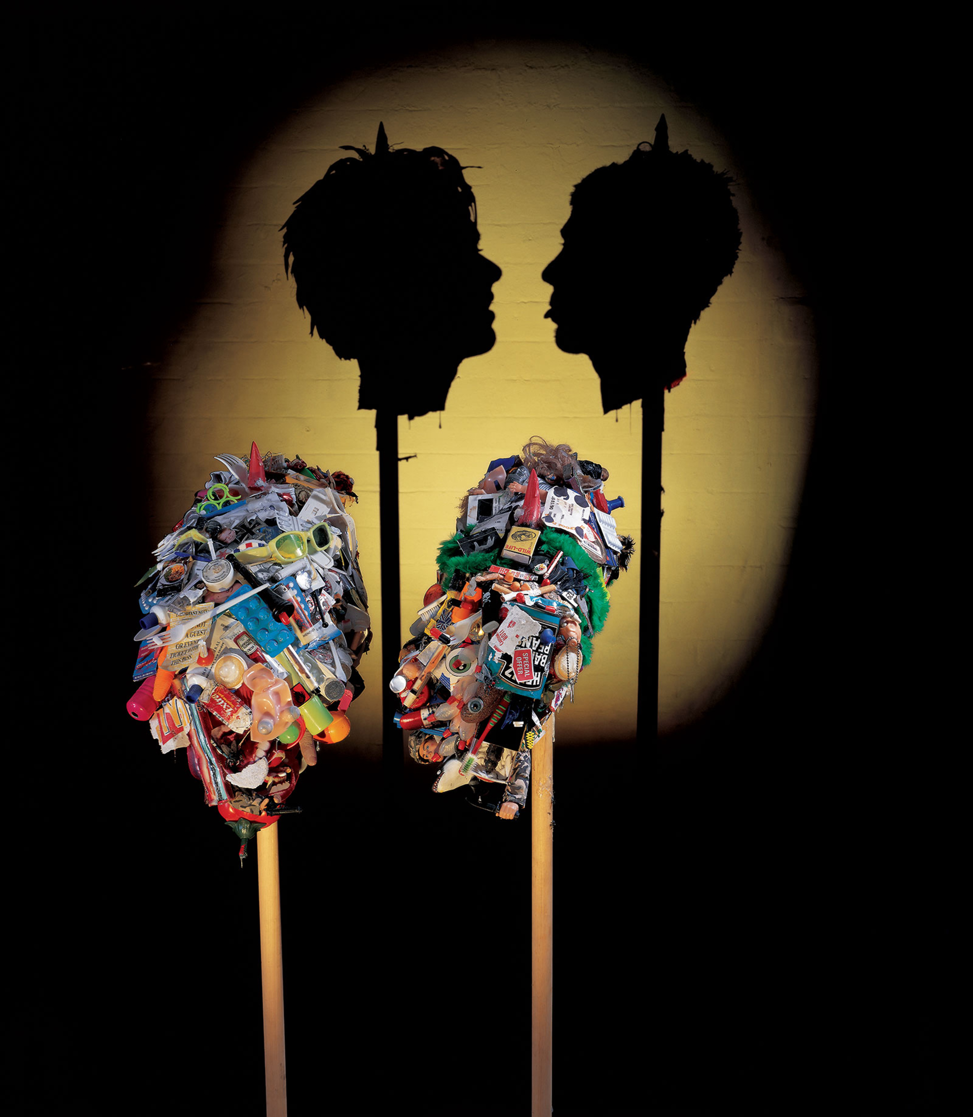 Shadow Sculptures Made of Trash by Tim Noble and Sue Webster