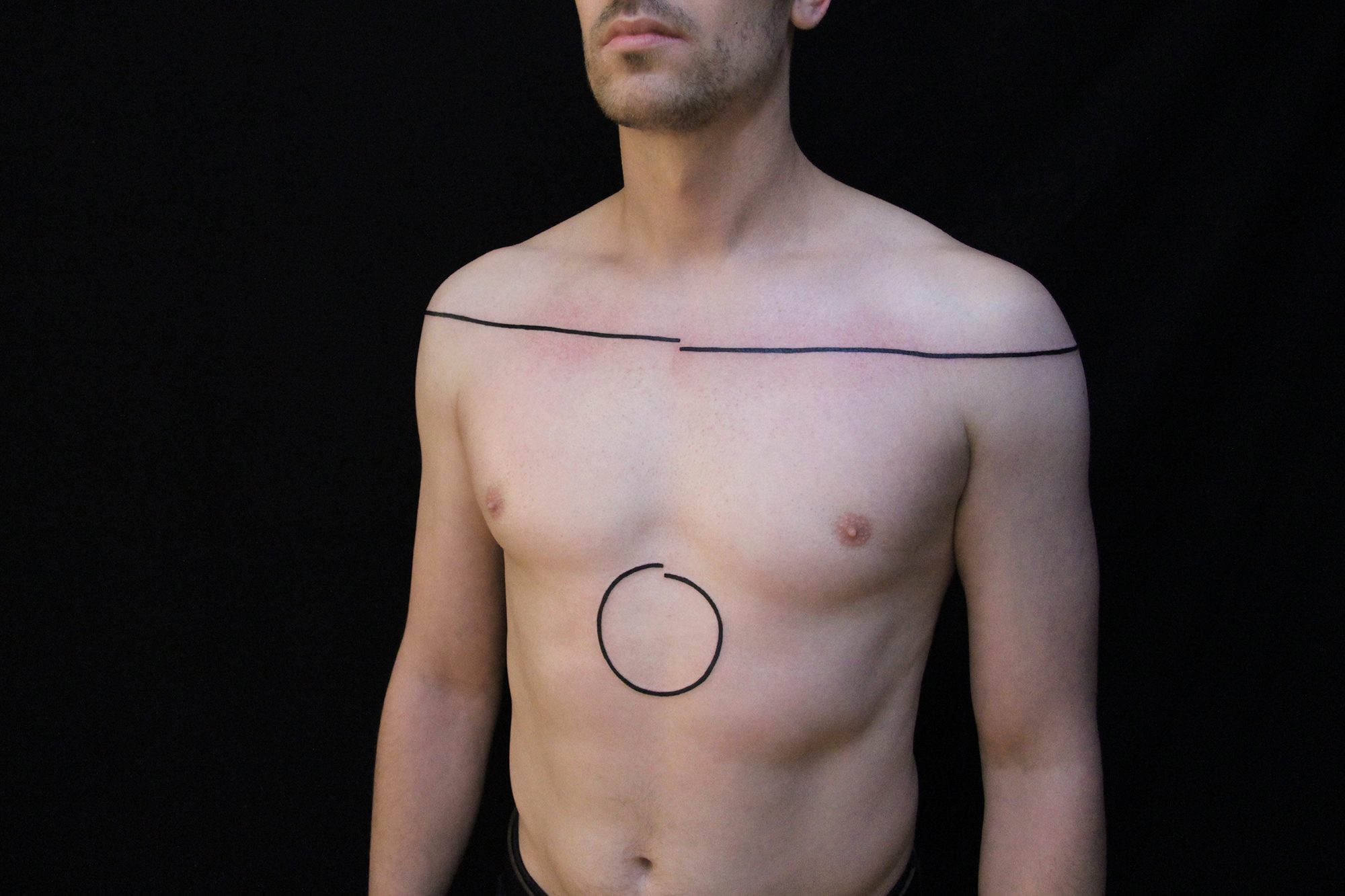 line and circle tattoos by chaim machlev. photo © erik weiss