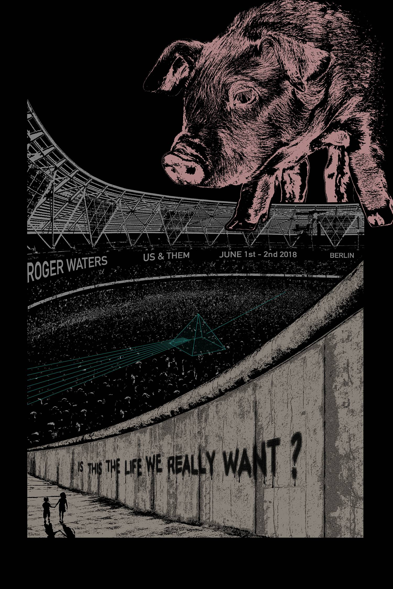 roger waters music poster by chaim machlev